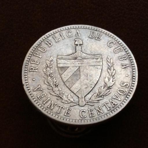 20 CENTAVOS DE PLATA DE 1915 - REPUBLICA DE CUBA  [1]
