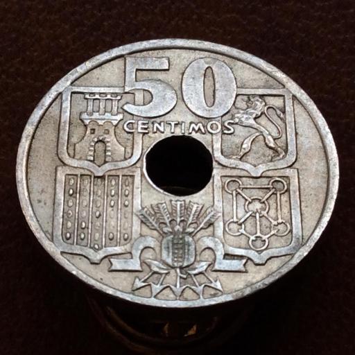 50 CÉNTIMOS 1949 *19*51 - FLECHAS INVERTIDAS - ESTADO ESPAÑOL FRANCO