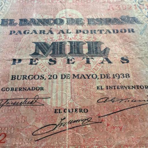 1000 PESETAS 1938 - GUERRA CIVIL ESPAÑOLA - BURGOS [2]