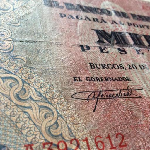 1000 PESETAS 1938 - GUERRA CIVIL ESPAÑOLA - BURGOS [3]