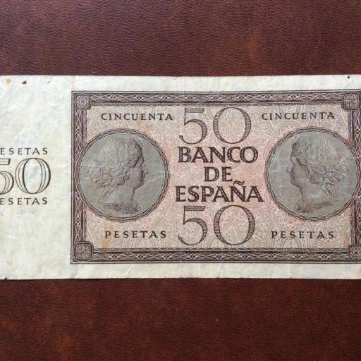 50 PESETAS 1936 - GUERRA CIVIL ESPAÑOLA - BURGOS [1]