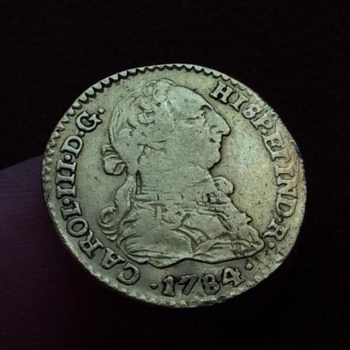 1 ESCUDO DE ORO DE 1784 - REINADO DE CARLOS III - SEVILLA [3]