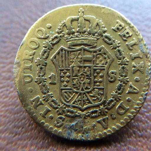 1 ESCUDO DE ORO DE 1784 - REINADO DE CARLOS III - SEVILLA [1]
