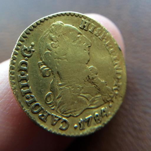1 ESCUDO DE ORO DE 1784 - REINADO DE CARLOS III - SEVILLA