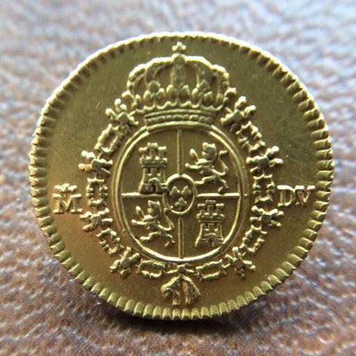 MEDIO ESCUDO DE ORO DE 1786 - REINADO DE CARLOS III - MADRID