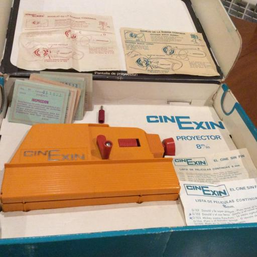 Cinexin años 70 - proyector de 8 mm - con bombilla original [3]