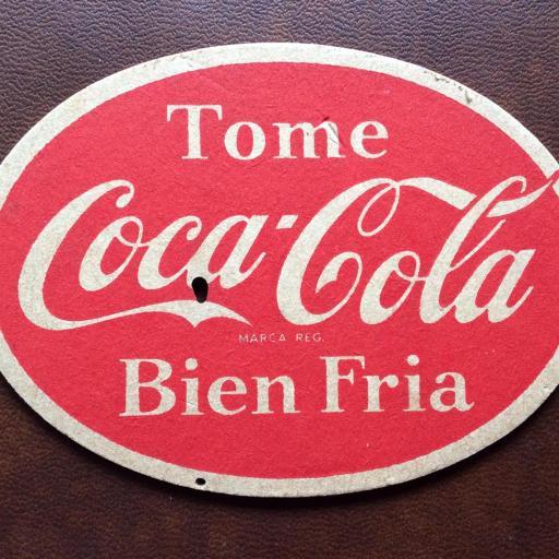 Posavasos Coca-Cola Antiguo - escaso y muy buscado