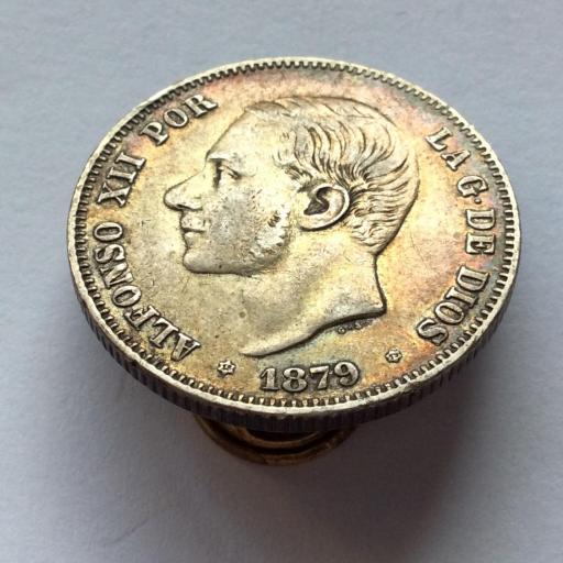 2 PESETAS PLATA 1879 - ALFONSO XII - PRECIOSA PATINA