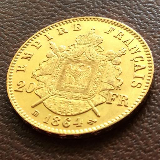 20 FRANCOS DE ORO DE 1864 - NAPOLEON III - FRANCIA  [1]