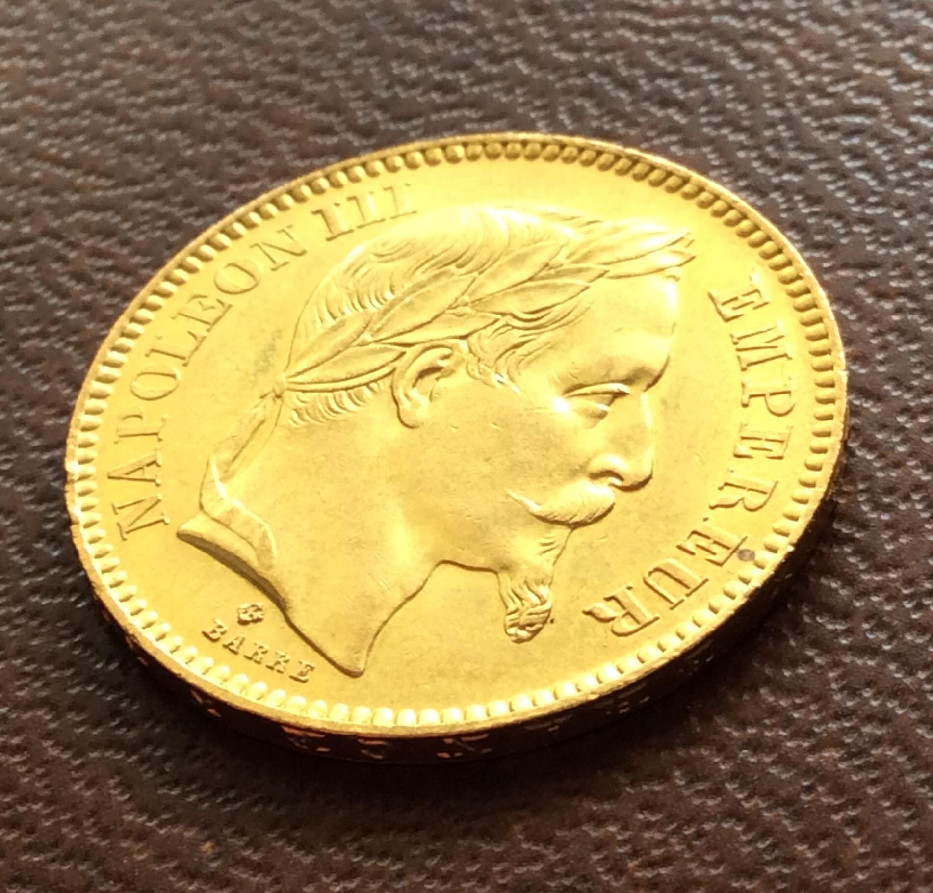 20 FRANCOS DE ORO DE 1864 - NAPOLEON III - FRANCIA