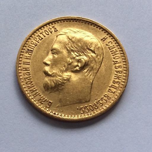 5 RUBLOS DE ORO DE 1898 - ZAR NIKOLAI II - RUSIA [3]