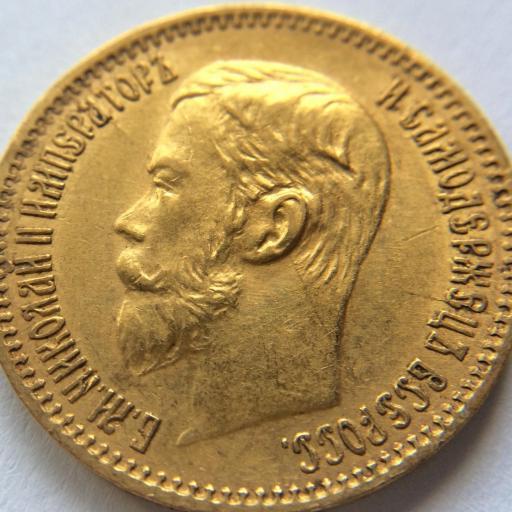 5 RUBLOS DE ORO DE 1897 - ZAR NIKOLAI II - RUSIA