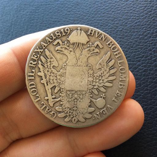 1 THALER PLATA 1819 - FRANCISCO I - AUSTRIA - ESCASA  [2]