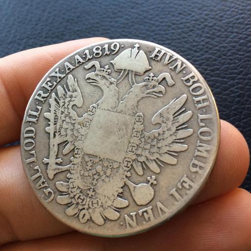 1 THALER PLATA 1819 - FRANCISCO I - AUSTRIA - ESCASA