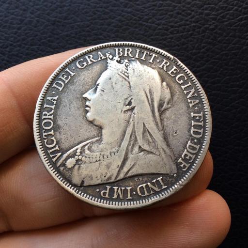 1 CORONA PLATA 1898 - REINA VICTORIA - INGLATERRA  [1]