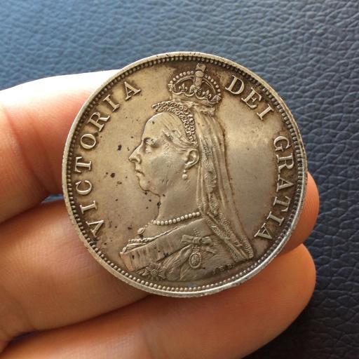 PRECIOSO FLORÍN DE PLATA DE 1889 - PREINA VICTORIA - INGLATERRA  [1]
