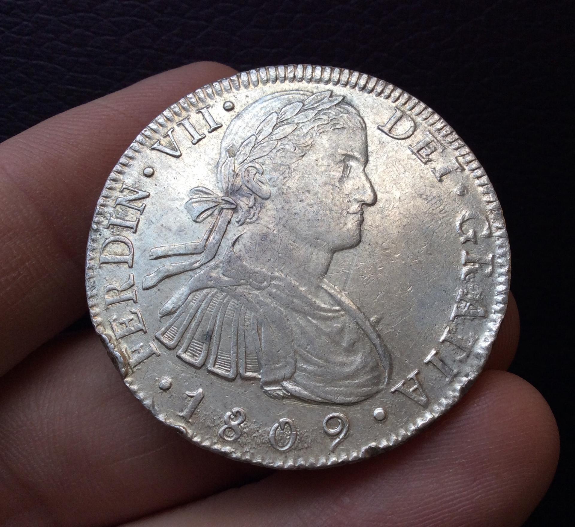 8 REALES 1809 - REY FERNANDO VII - BUSTO IMAGINARIO  - MÉXICO