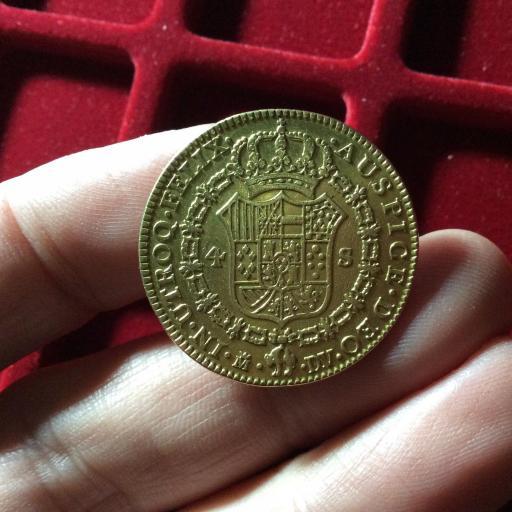 4 ESCUDOS DE ORO DE 1787 - REINADO DE CARLOS III - MADRID  [3]