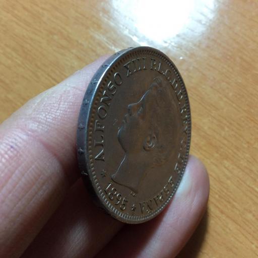 PRECIOSO 1 PESO DE PLATA DE 1895 - PUERTO RICO - ALFONSO XIII [3]