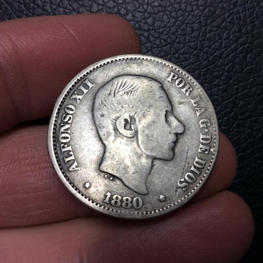 ESCASOS 50 CENTAVOS DE PESO DE 1880 - FILIPINAS