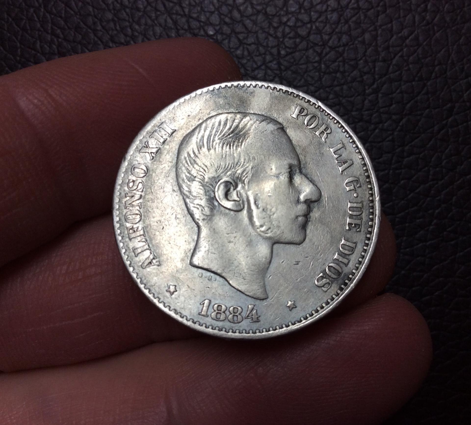 ESCASOS 50 CENTAVOS DE PESO 1884 - FILIPINAS