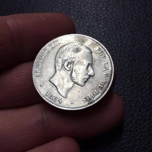 ESCASOS 50 CENTAVOS DE PESO 1884 - FILIPINAS  [2]