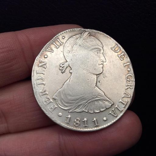 8 REALES 1811 - LIMA - FERNANDO VII - BUSTO INDÍGENA