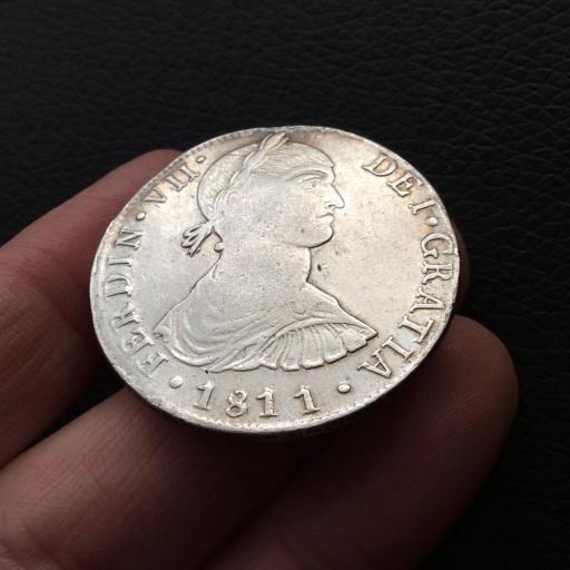 8 REALES 1811 - LIMA - FERNANDO VII - BUSTO INDÍGENA  [2]