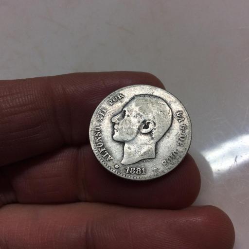 1 PESETA PLATA 1881 - ALFONSO XII