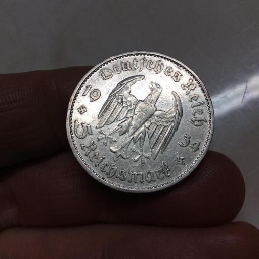 5 MARKS 1934 - ALEMANIA - PLATA [1]
