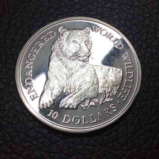 10 DOLLARS 1990 - COOK ISLANDS - TIGRE
