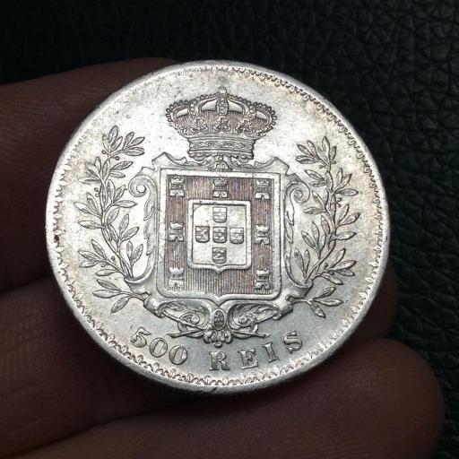 500 Reis plata 1891 - Carlos I - Portugal  [1]
