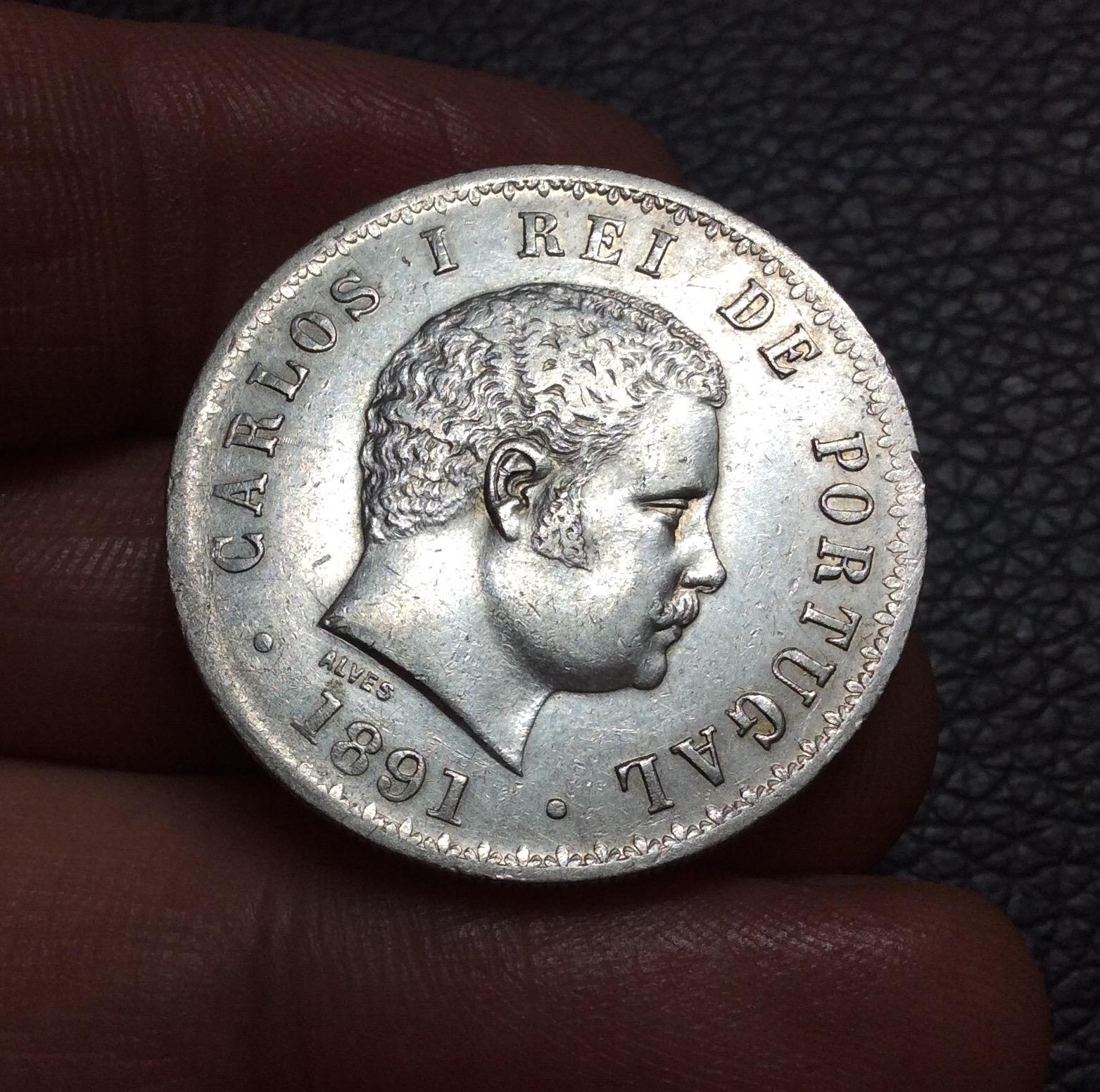 500 Reis plata 1891 - Carlos I - Portugal