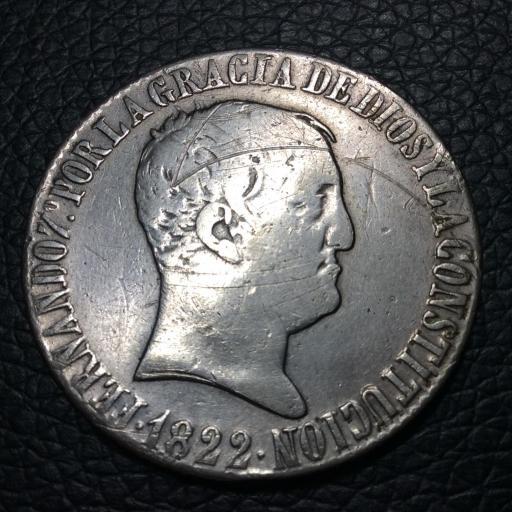 20 Reales 1822 - SEVILLA - RD - Fernando VII