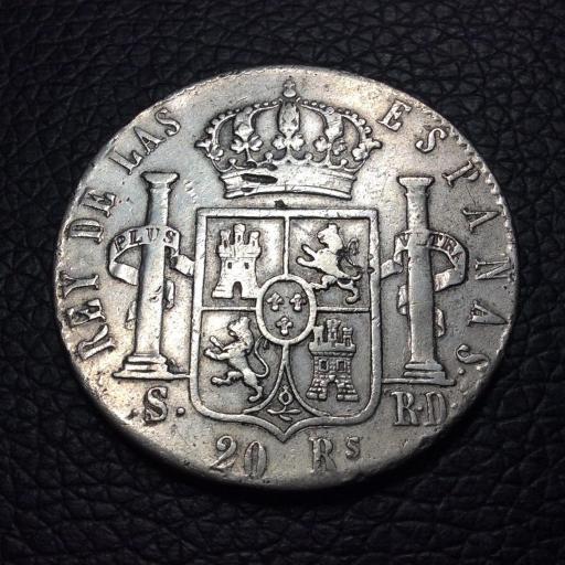 20 Reales 1822 - SEVILLA - RD - Fernando VII  [1]