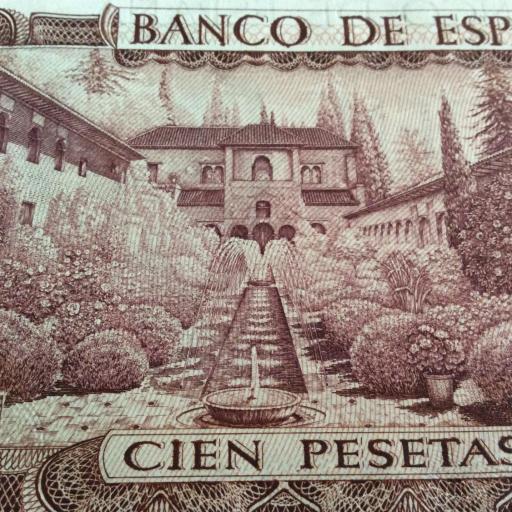 CUARTETO CORRELATIVO 100 PESETAS 1970 - MANUEL DE FALLA - PLANCHA - SIN CIRCULAR  [2]