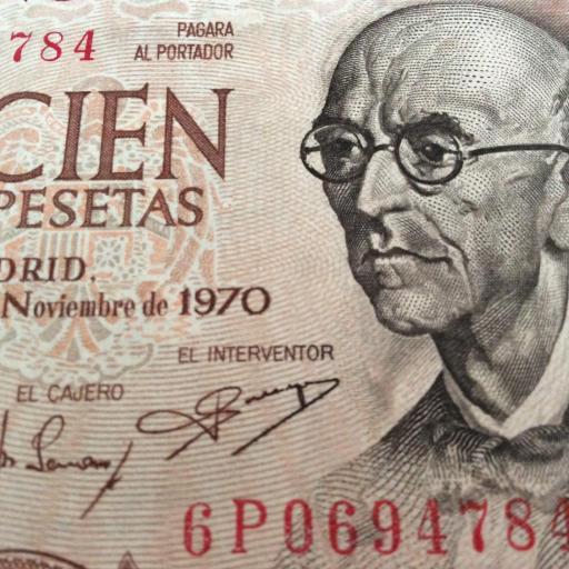 CUARTETO CORRELATIVO 100 PESETAS 1970 - MANUEL DE FALLA - PLANCHA - SIN CIRCULAR  [3]