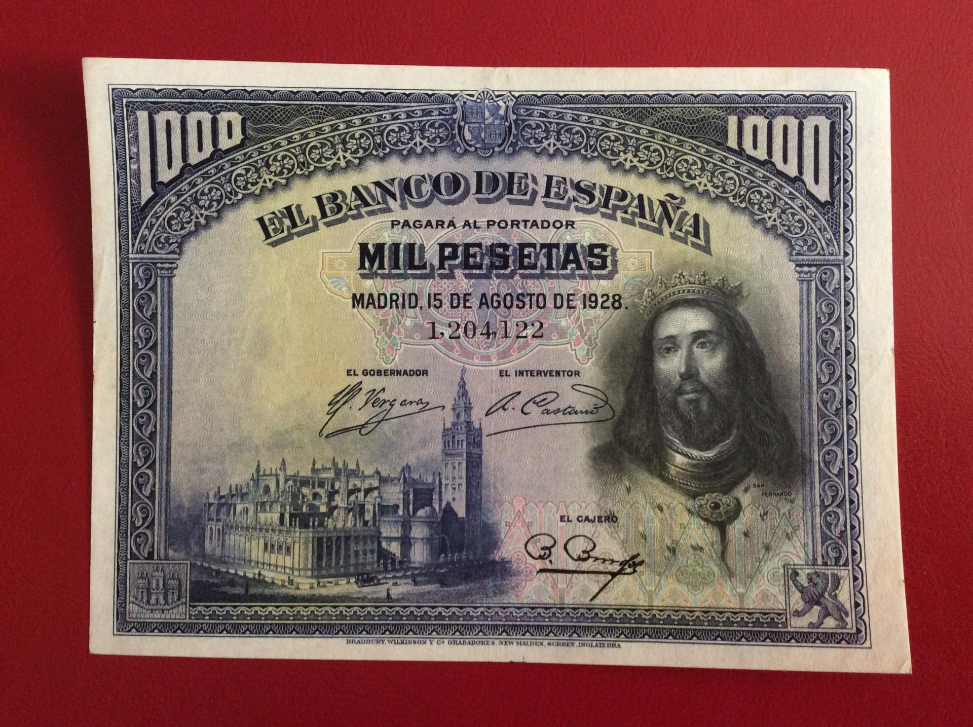 EXCELENTES 1000 PESETAS 1928 - SAN FERNANDO