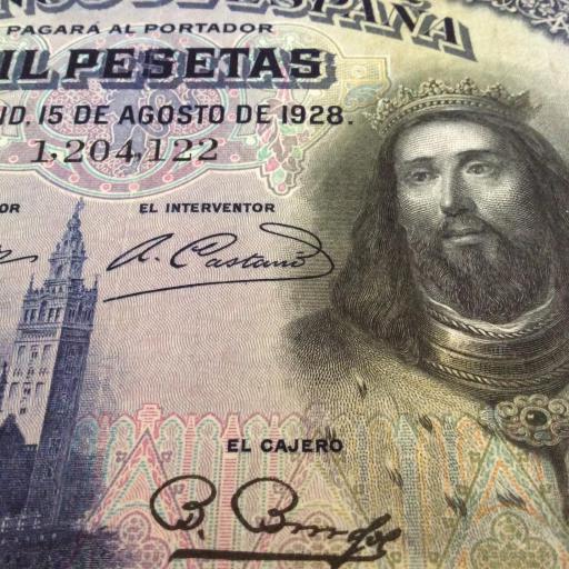 EXCELENTES 1000 PESETAS 1928 - SAN FERNANDO  [3]