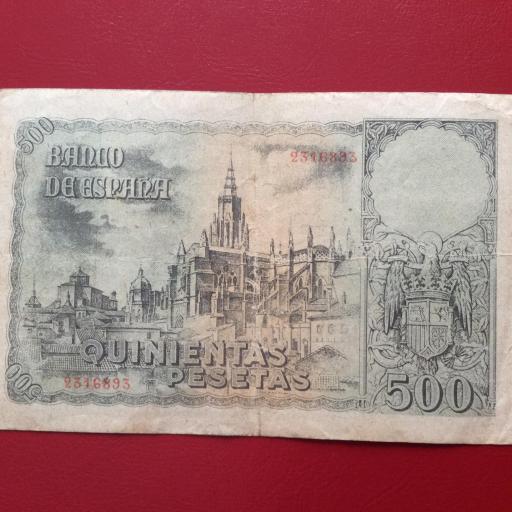 500 PESETAS OCTUBRE 1940 - ENTIERRO DEL CONDE DE ORGAZ - ESCASO  [1]