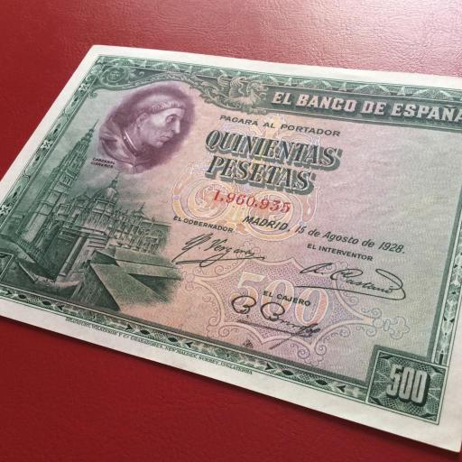 500 PESETAS 1928 - CARDENAL CISNEROS - SIN CIRCULAR- [3]