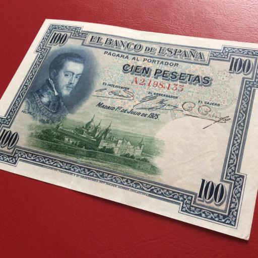 100 PESETAS 1925 - SERIE A - FELIPE II - EXCELENTE CONSERVACIÓN  [2]