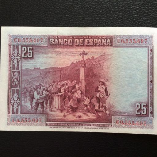25 PESETAS 1925 - CALDERÓN DE LA BARCA - PLANCHA SIN CIRCULAR  [1]