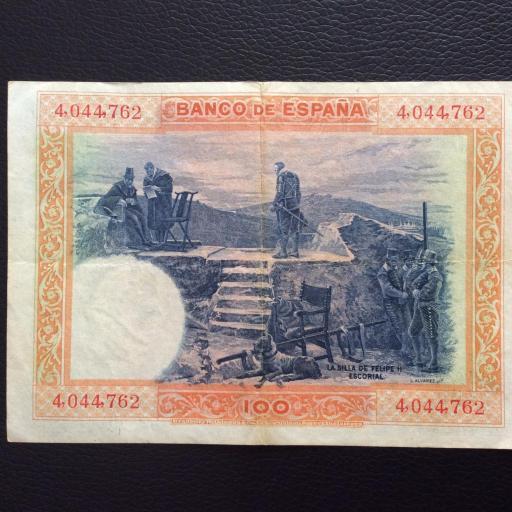 100 PESETAS 1925 - SIN SERIE - FELIPE II - BUENA CONSERVACIÓN  [1]