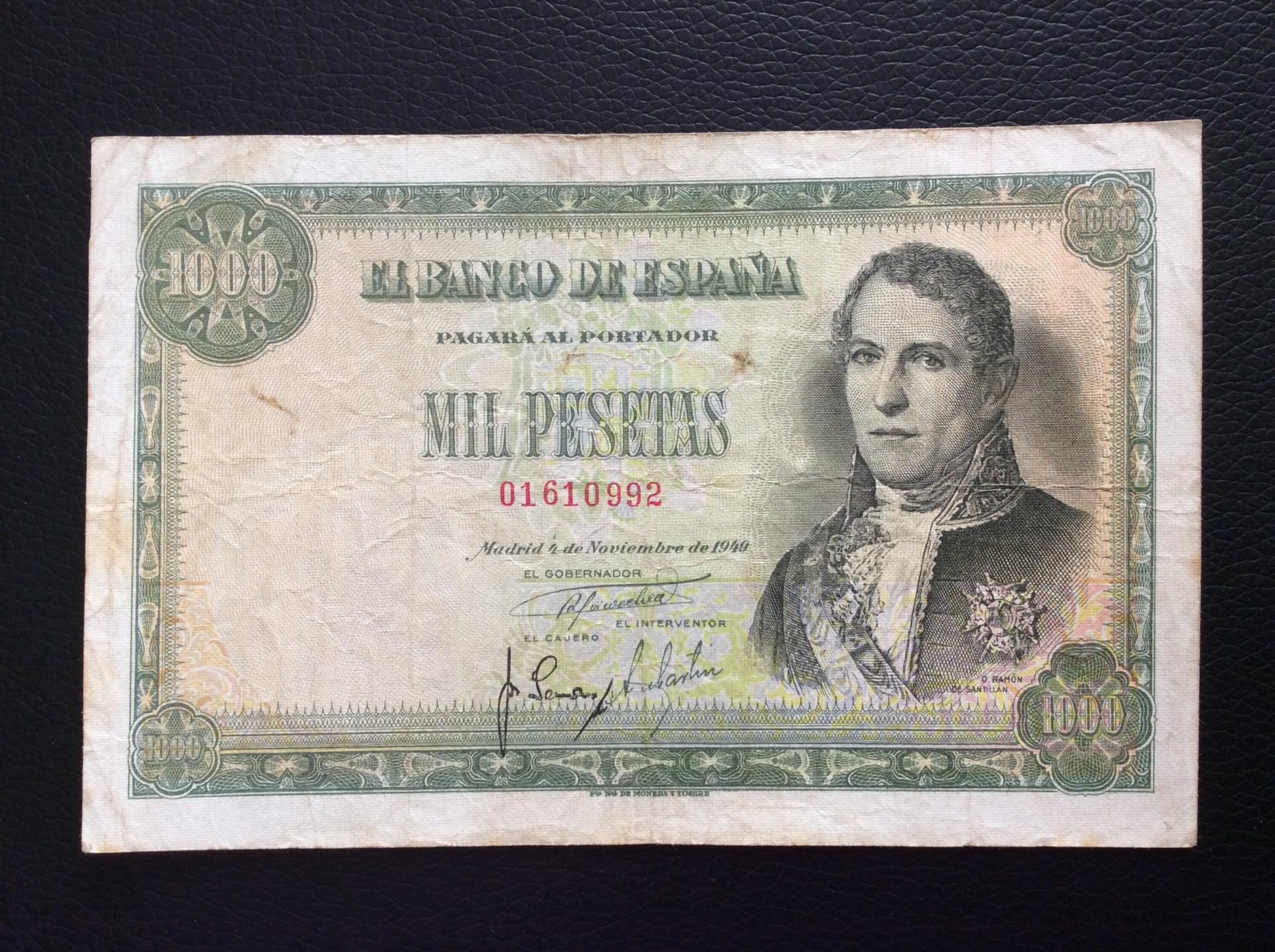1000 PESETAS 1949 - MARQUÉS DE SANTILLAN