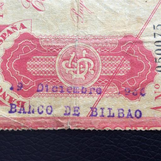 5 PESETAS 1936 - BANCO DE BILBAO - GUERRA CIVIL ESPAÑOLA [2]