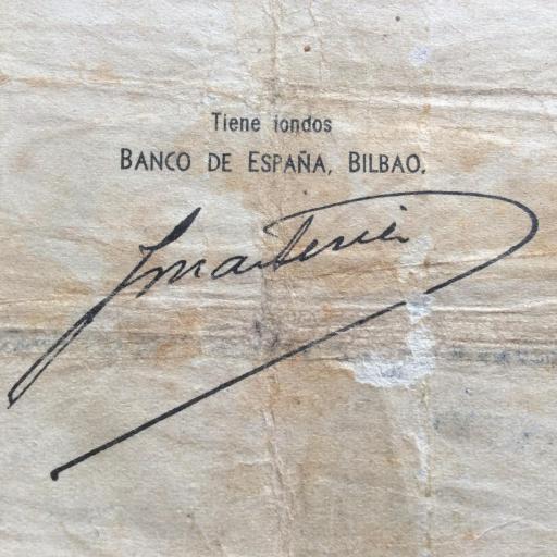 5 PESETAS 1936 - BANCO DE BILBAO - GUERRA CIVIL ESPAÑOLA [3]