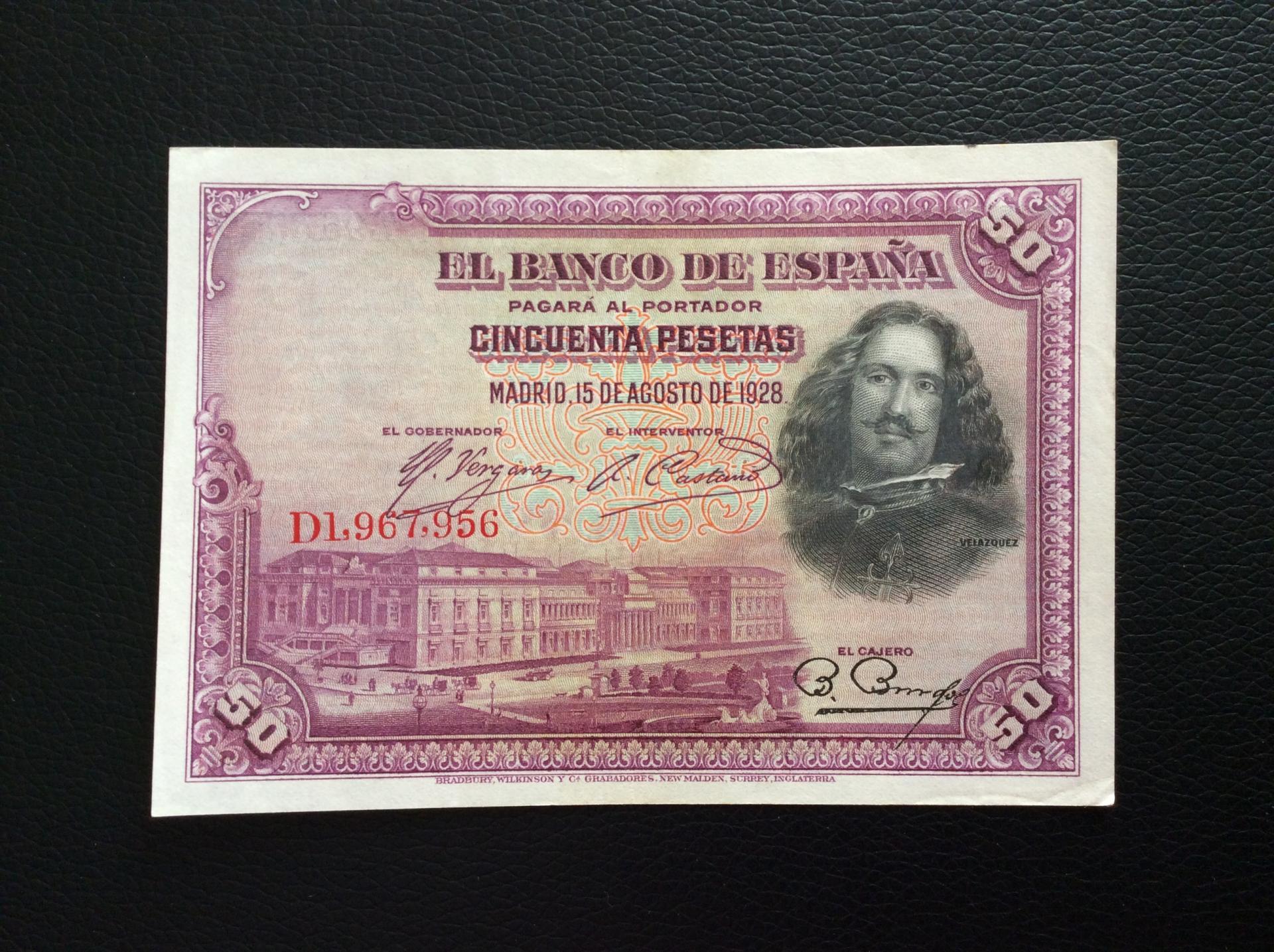 50 PESETAS 1928 - VELÁZQUEZ - EXCELENTE ESTADO