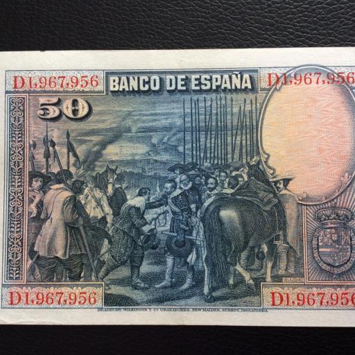 50 PESETAS 1928 - VELÁZQUEZ - EXCELENTE ESTADO  [1]