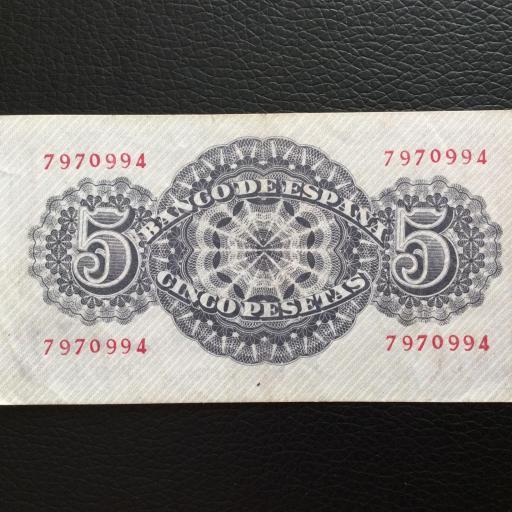 5 PESETAS 1947 - SIN SERIE - SENECA  [1]